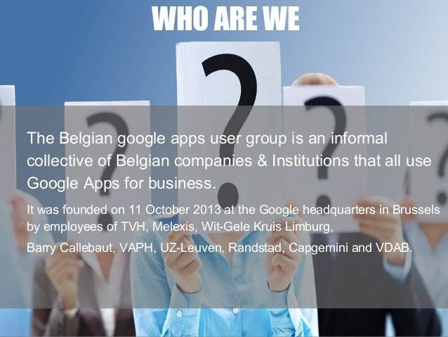 Mission statement Belgaug Slide 2