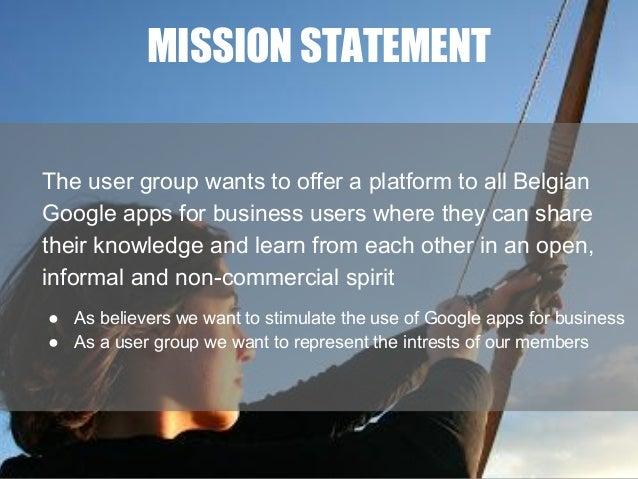 Mission statement Belgaug Slide 3