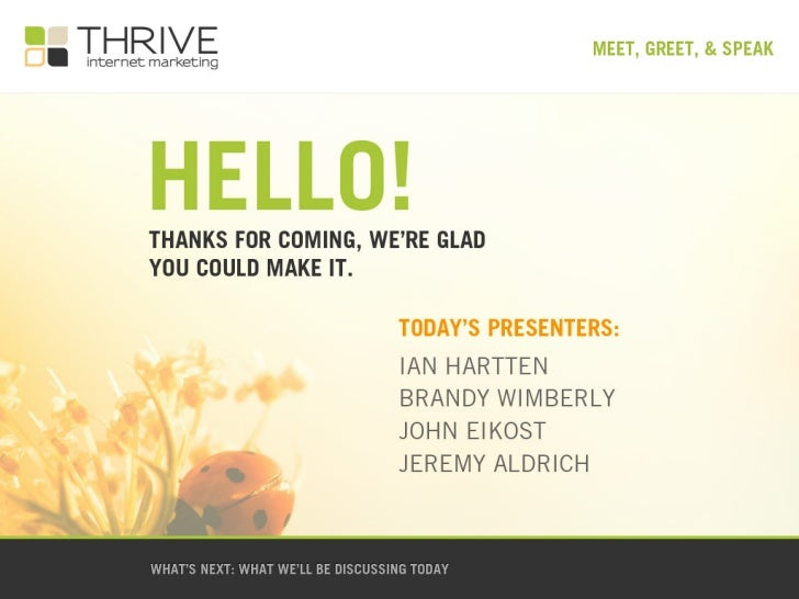 Thrive Meeting Introduction