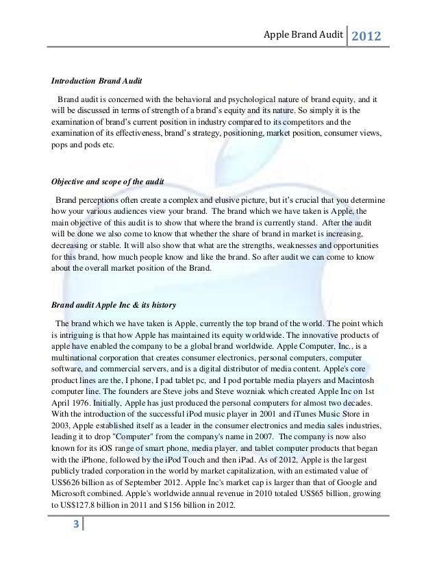 brand audit worksheet