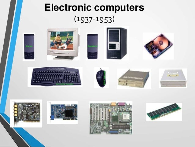 Introduction and Brief History of Computers