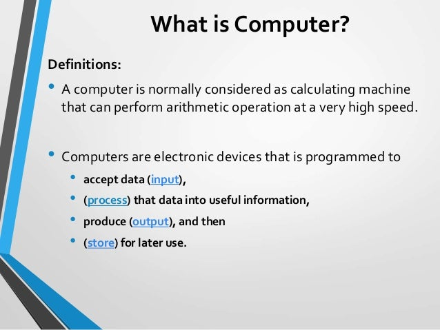brief history of computers 12 january 2016 a very brief history of computing, 1948-2015 professor martyn thomas in my first lecture, should we trust computers, i described the critically important role of.