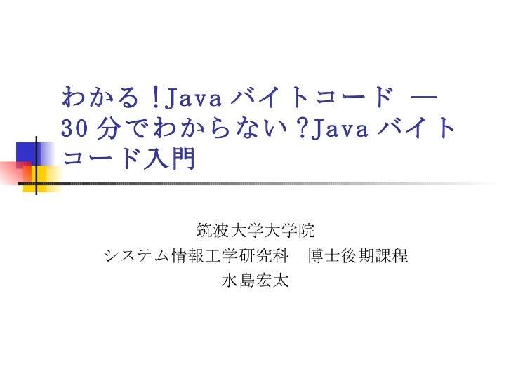 Javaバイトコード入門