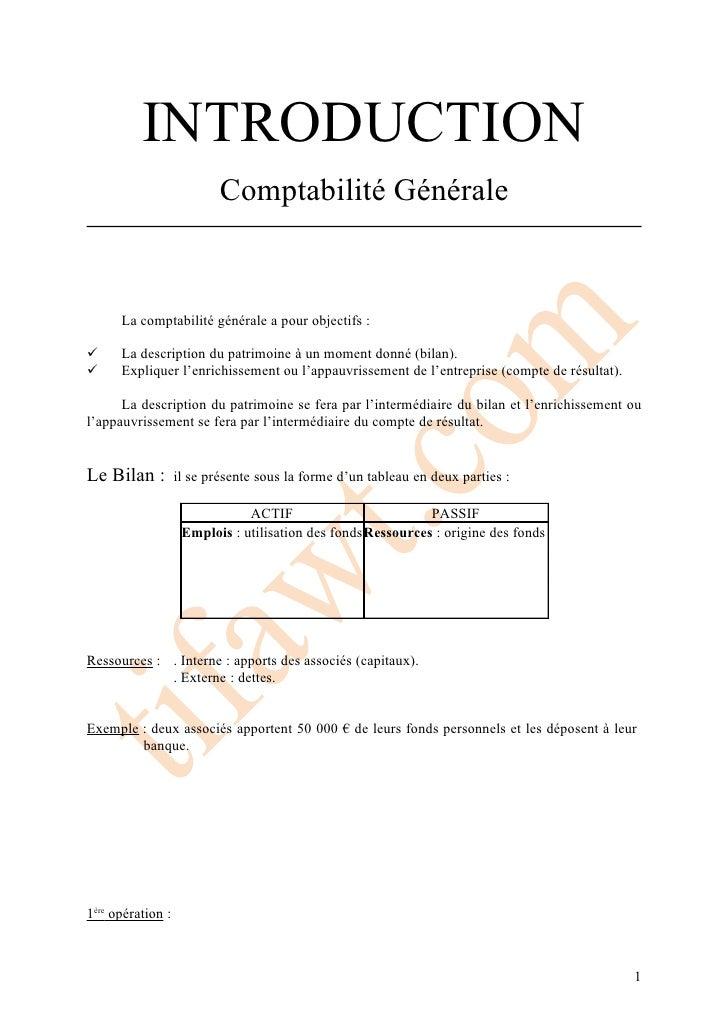 Introduction compt.gén