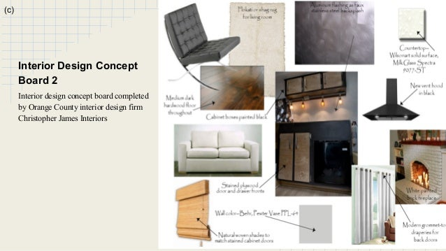 B 13 C Interior Design Concept Board 2 Completed By Orange County Firm Christopher James Interiors