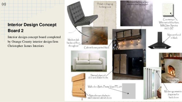 B 13 C Interior Design Concept Board 2 Completed By Orange County Firm Christopher