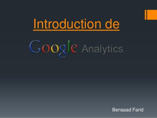 Introduction de             Bensaad Farid