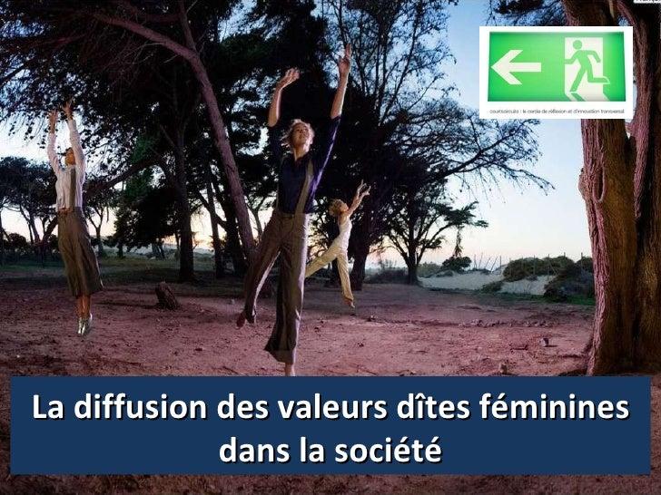 La diffusion des valeurs dîtes féminines dans la société