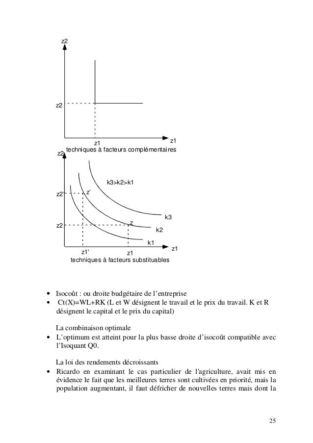 facteur de production substituable