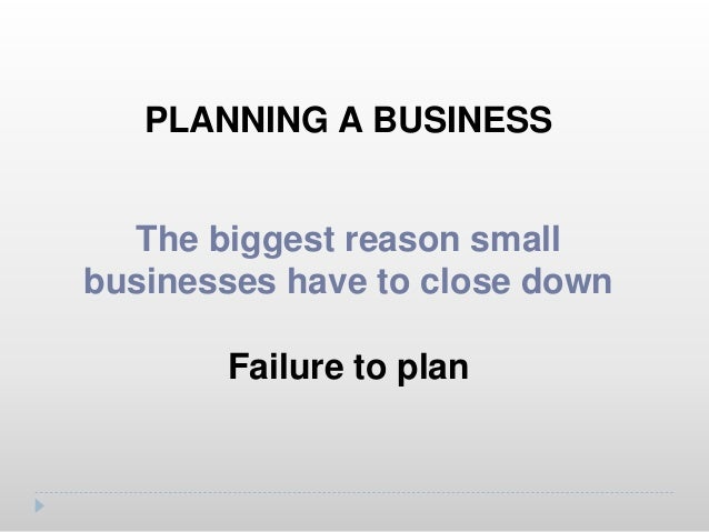 PLANNING A BUSINESS A written document that describes how you will operate your business A business plan