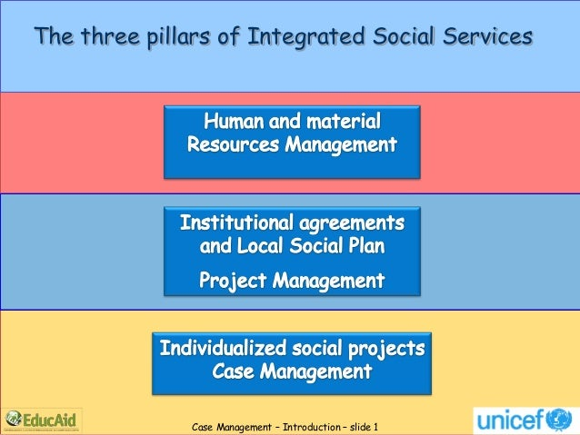 The three pillars of Integrated Social Services              Case Management – Introduction – slide 1