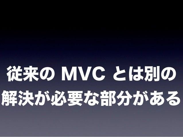 今日のまとめ* MVC の背景✓ 画面の変更がしづらいことってありませんか?* MVC って何?✓ アプリケーションを柔軟に保つための先人の知恵✓ 変化に対応するため、処理、入力、出力に分ける* ブラウザの中での MVC✓ Backbone.j...