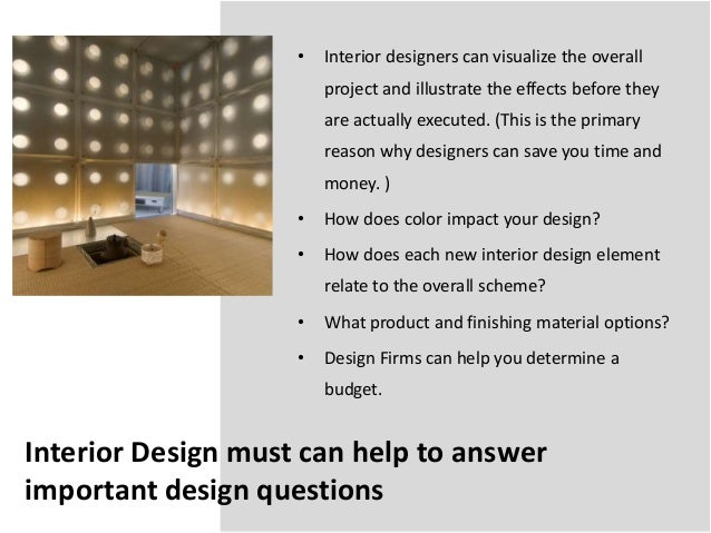 Introduction for interior design - What is interior design ...