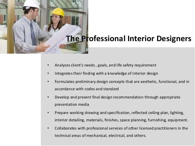 Merveilleux 6. The Professional Interior Designers U2022 Analyzes Clientu0027s Needs ...