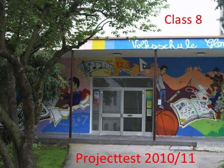 Class 8Projecttest 2010/11