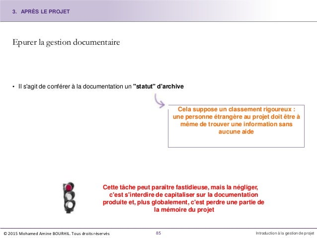 """Epurer la gestion documentaire • Il s'agit de conférer à la documentation un """"statut"""" d'archive Cela suppose un classement..."""