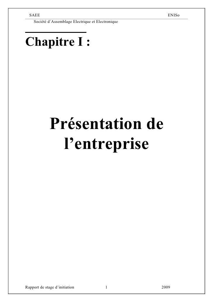 SAEE                                                   ENISo      Société d´Assemblage Electrique et Electronique     Chap...