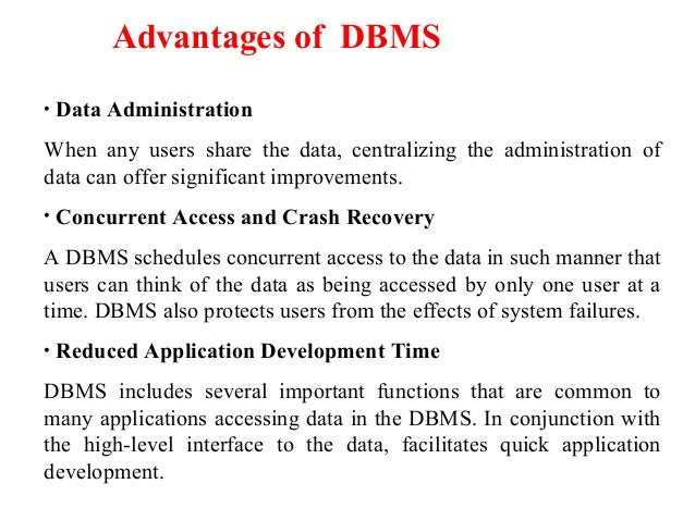 Introduction Amp History Of Dbms