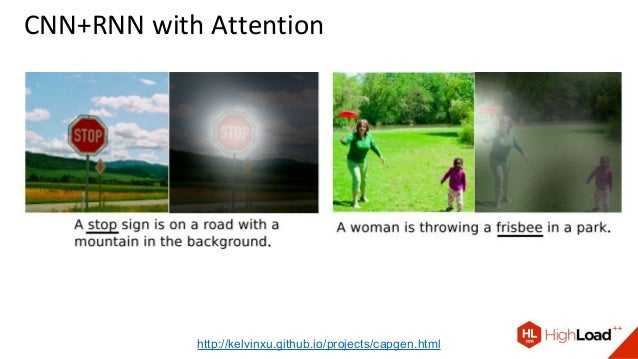 CNN+RNN with Attention http://kelvinxu.github.io/projects/capgen.html