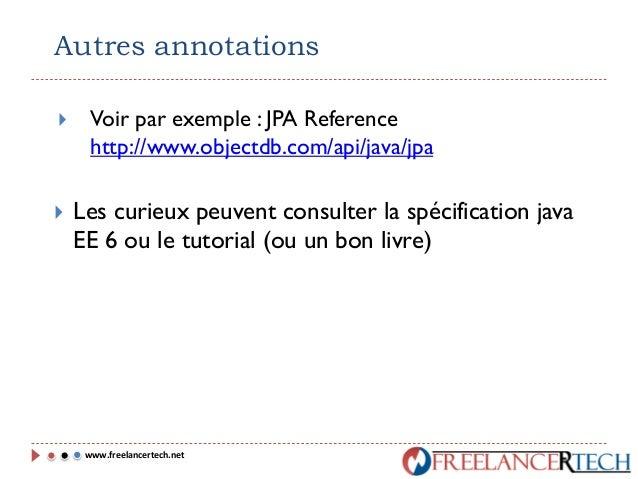 Introduction à JPA (Java Persistence API )