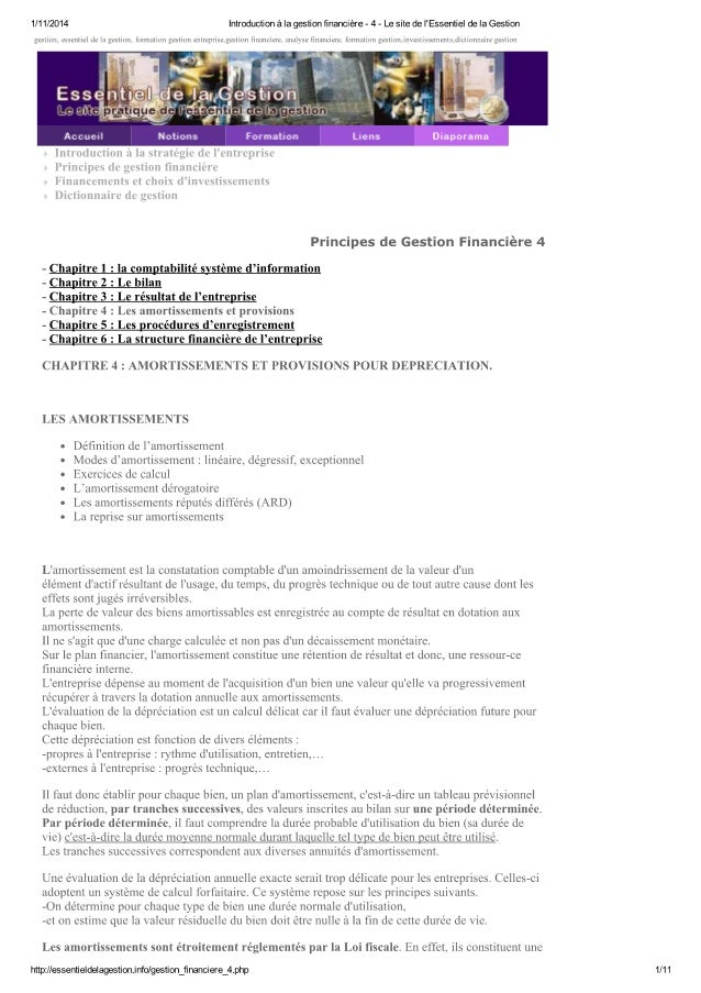 Introduction à la gestio...essentiel de la gestion