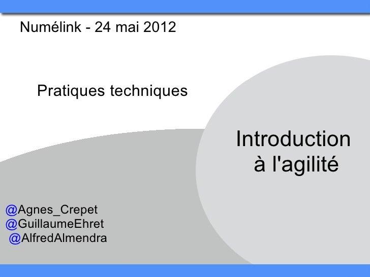 Numélink-24mai2012    Pratiquestechniques                            Introduction                              àla...