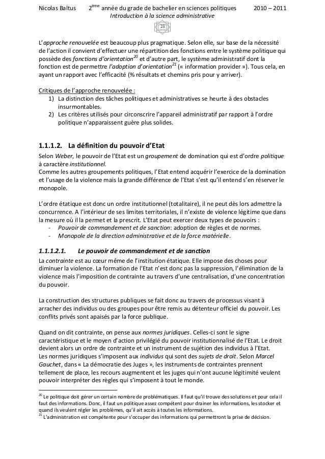Nicolas Baltus         2ème année du grade de bachelier en sciences politiques                      2010 – 2011           ...