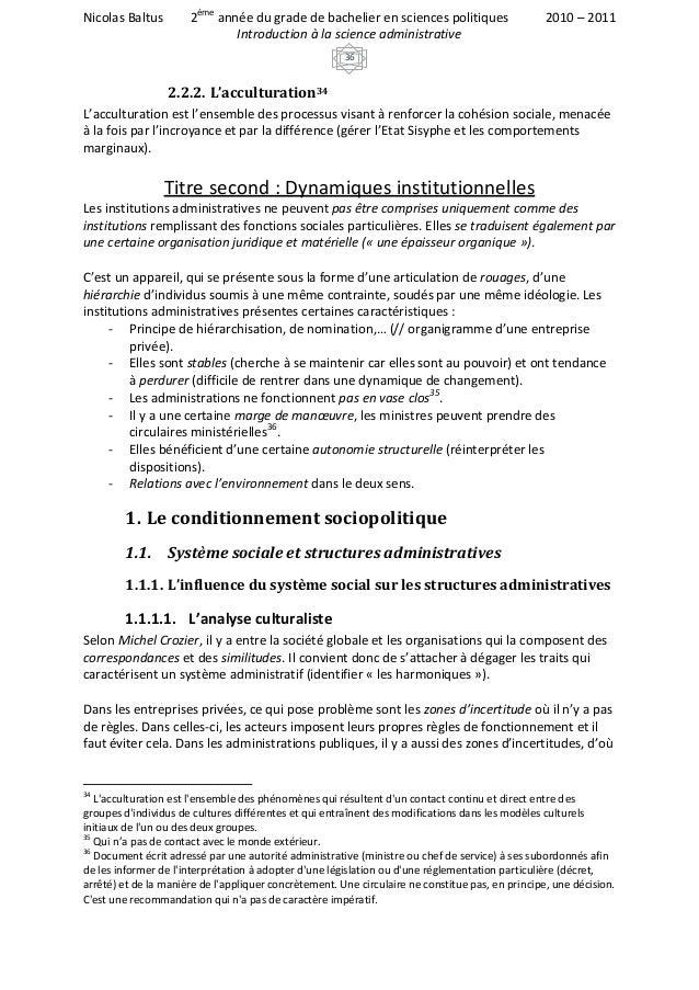 Introduction à la science administrative
