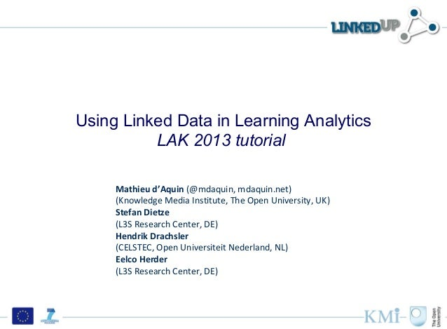 Using Linked Data in Learning Analytics          LAK 2013 tutorial     Mathieu d'Aquin (@mdaquin, mdaquin.net)     (Knowle...