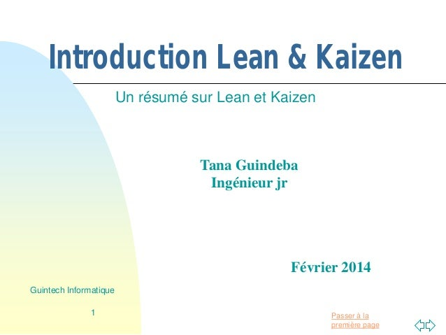 introduction  u00e0 lean et kaizen