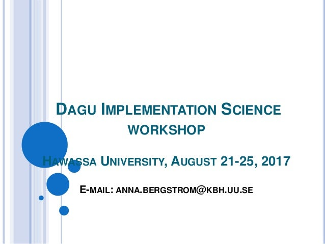 Introduction Lecture for Implementation Science