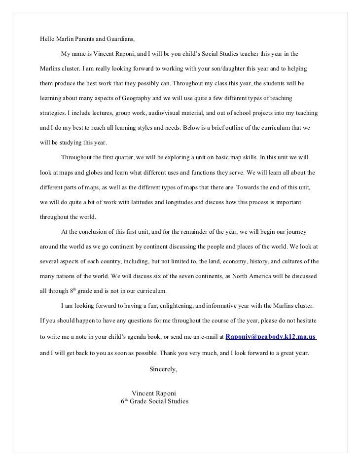 Letter To Teacher About Your Child Behavior