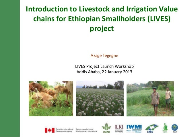 Introduction to Livestock and Irrigation Value  chains for Ethiopian Smallholders (LIVES)                   project       ...