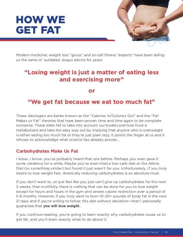 28. The 3 Week Diet ...
