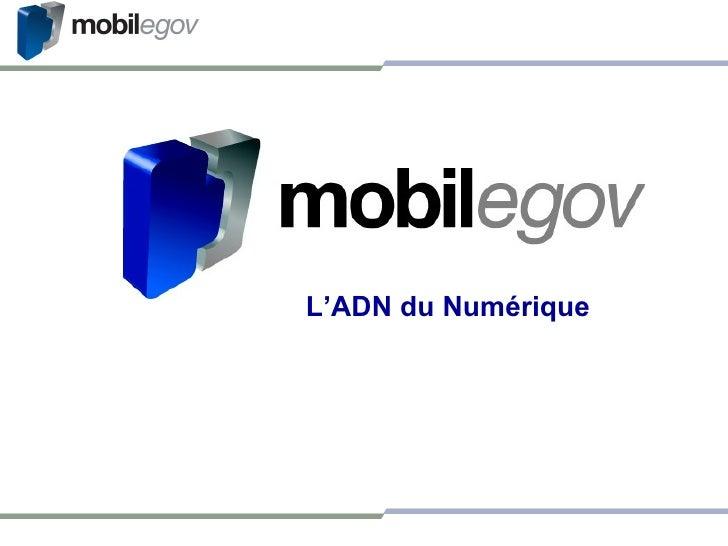 <ul><ul><li>L'ADN du Numérique </li></ul></ul>