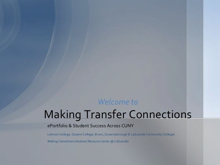 Making Transfer Connections Introduction