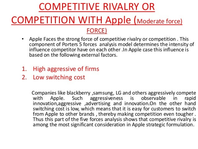 Competitive forces for the iphone