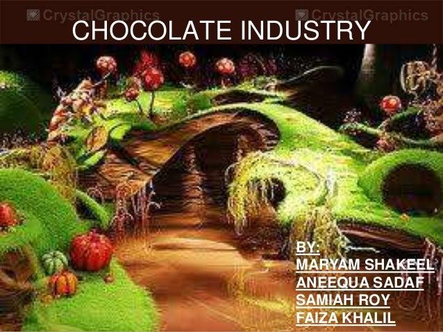 CHOCOLATE INDUSTRY  BY: MARYAM SHAKEEL ANEEQUA SADAF SAMIAH ROY FAIZA KHALIL