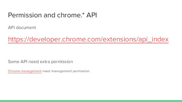 Introduction of chrome extension development