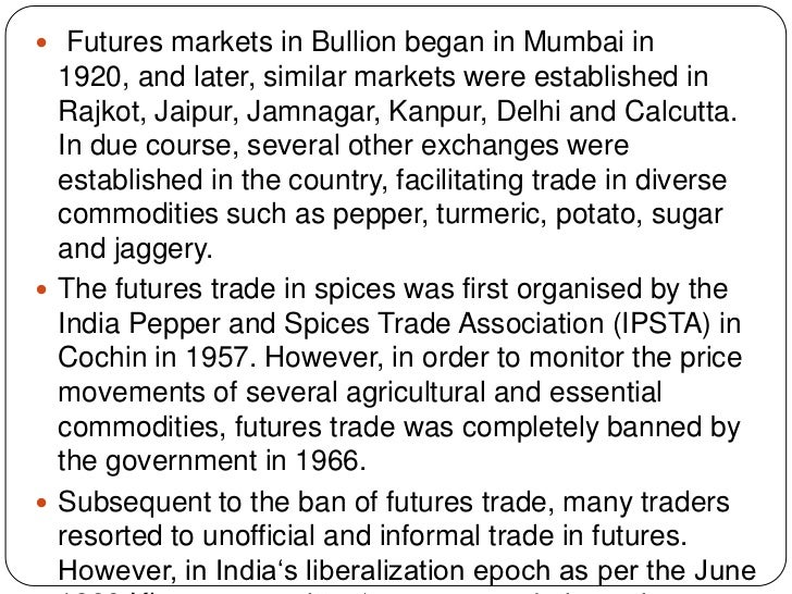 Futures and options in indian stock market