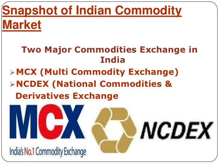 Multi Commodity Exchange of India Ltd.