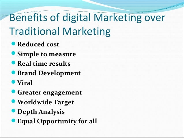 traditional markets and digital markets What is digital marketing a visual summary by dave this highlights how important it is to break down silos between 'digital' and 'traditional' marketing.