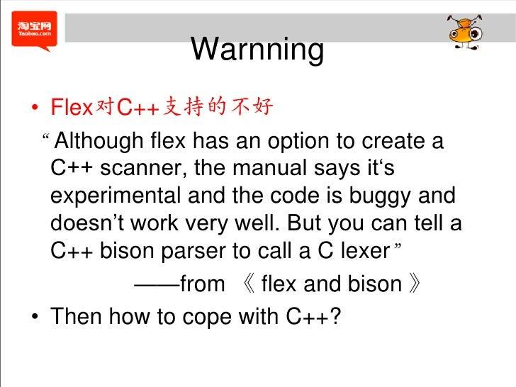 A Bison Parser Introduction of flex