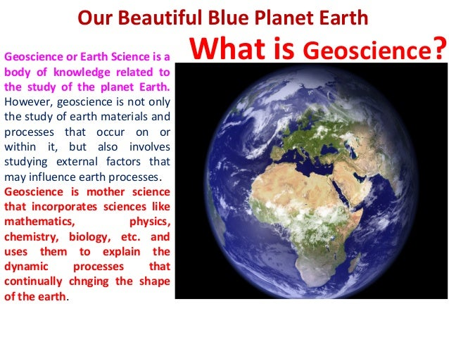 Introduction Of Geoscience   What Is Geoscience