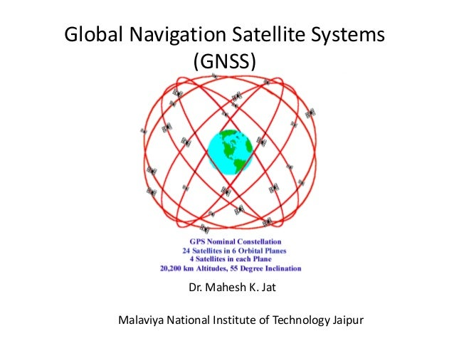 Global Navigation Satellite Systems  (GNSS)  Dr. Mahesh K. Jat  Malaviya National Institute of Technology Jaipur