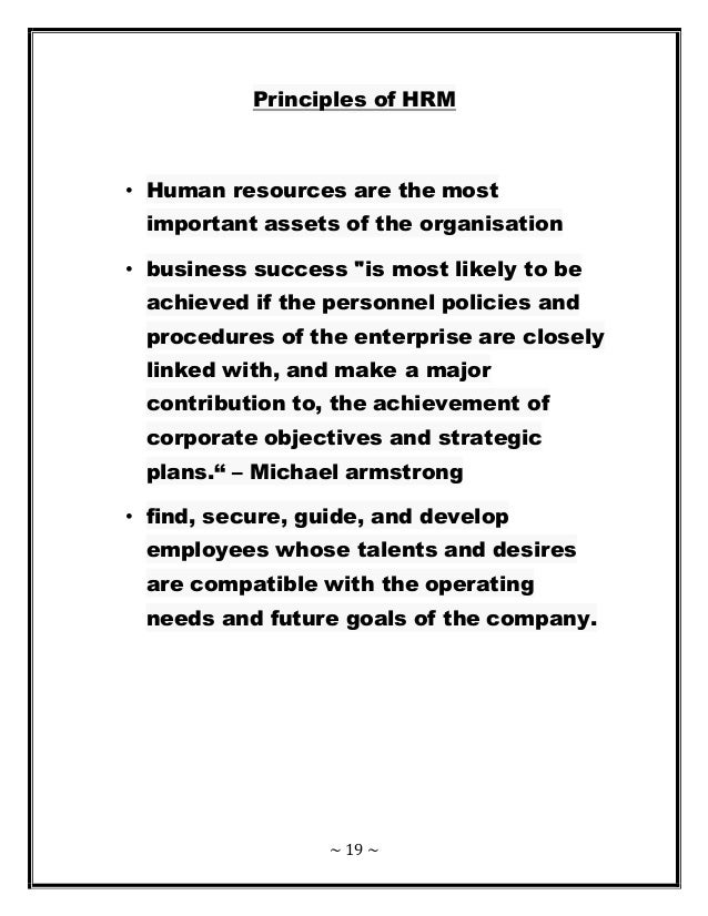 Human Resource Management Of KFC