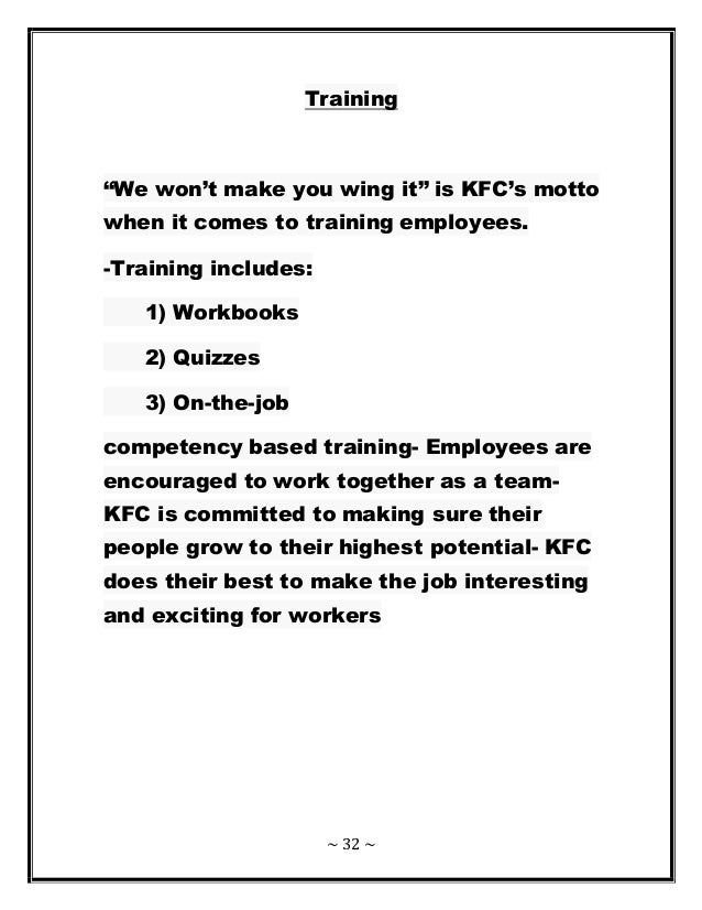 kfc human resource planning Saba helps kfc transform their learning organization for the countrywide extended enterprise including over 25,000 employees across 825 restaurants through learning and virtual classroom kfc aimed to become the best uk company for training and development across 825 restaurants.