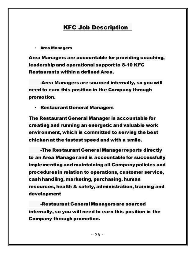 Human Resource Management Of Kfc