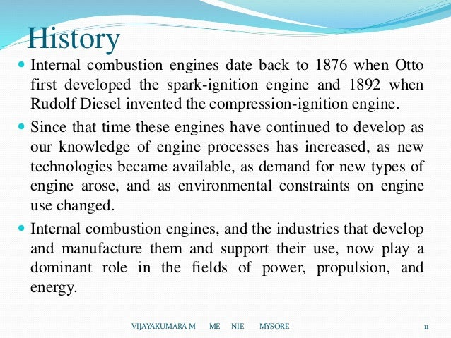 overview of the invention of the internal combustion engine The company has been developing its mice (miniature internal combustion engine) generator technology to address the need for high energy density portable electric.