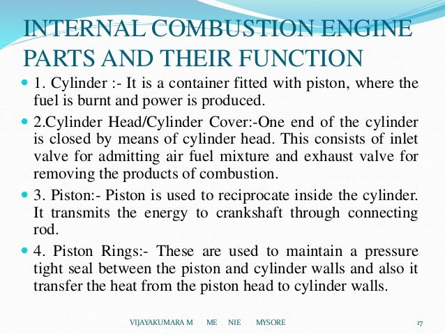 Introduction of I C Engines